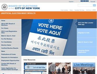 vote.nyc.ny.us screenshot