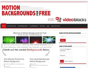 Thumbshot of Motionbackgroundsforfree.com