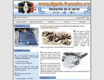 Main page screenshot of algerie-francaise.org