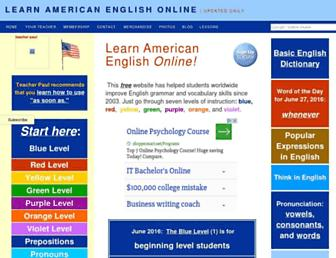 Thumbshot of Learnamericanenglishonline.com