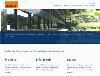 Main page screenshot of scout24.ch