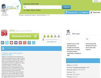 spss.en.downloadastro.com screenshot