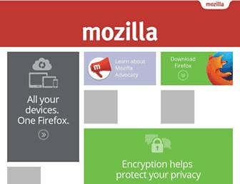 Main page screenshot of mozilla.org