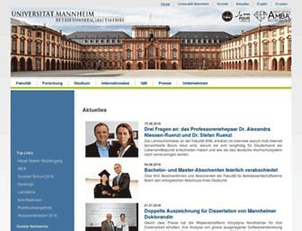 bwl.uni-mannheim.de screenshot