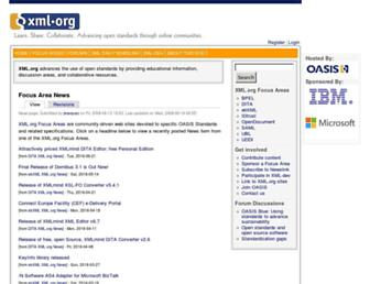 Thumbshot of Xml.org