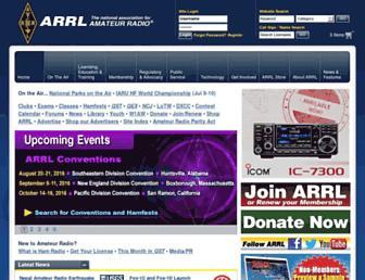 arrl.org screenshot