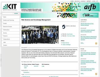 km.aifb.kit.edu screenshot