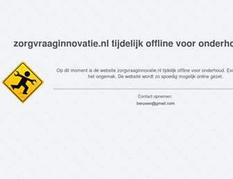 Main page screenshot of zorgvraaginnovatie.nl