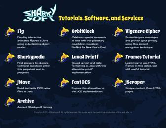 sharkysoft.com screenshot
