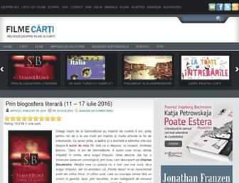Main page screenshot of filme-carti.ro