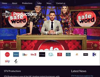 Main page screenshot of stvproductions.tv