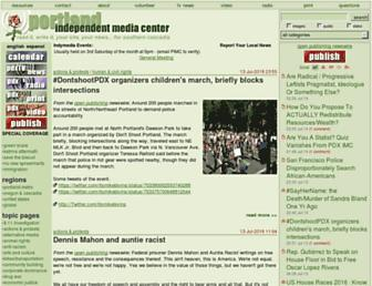 Main page screenshot of portland.indymedia.org