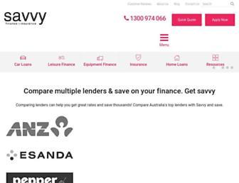 savvy.com.au screenshot