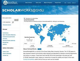 scholarworks.gvsu.edu screenshot