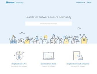 dropboxforum.com screenshot