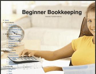 beginner-bookkeeping.com screenshot