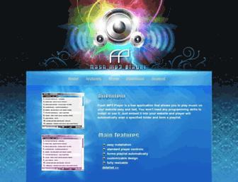 Main page screenshot of flashmp3player.org