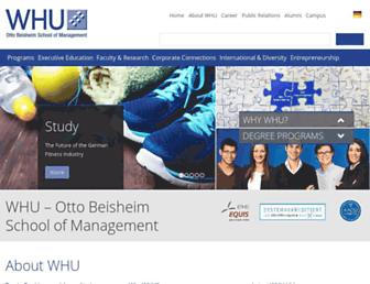 whu.edu screenshot