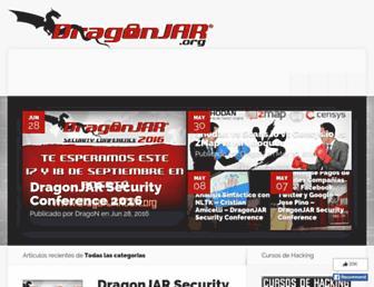 Main page screenshot of dragonjar.org