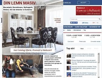Main page screenshot of bloombiz.ro