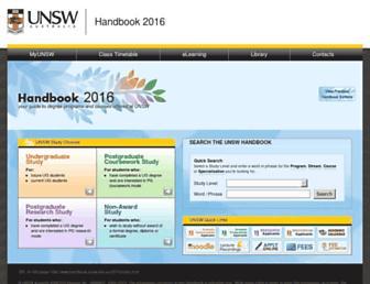 handbook.unsw.edu.au screenshot