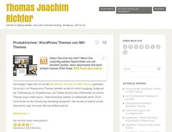 Main page screenshot of thomas-joachim-richter.de