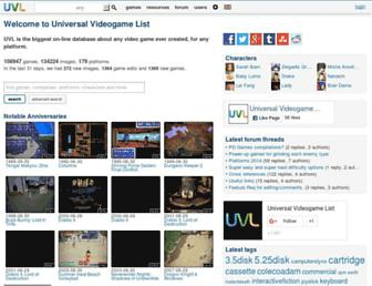uvlist.net screenshot