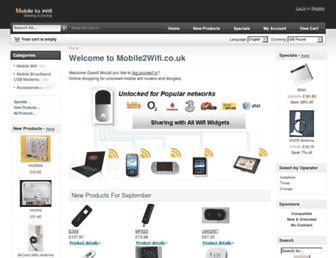 mobile2wifi.co.uk screenshot