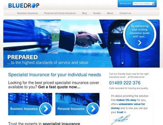 bluedropservices.co.uk screenshot
