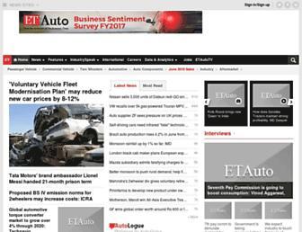 auto.economictimes.indiatimes.com screenshot