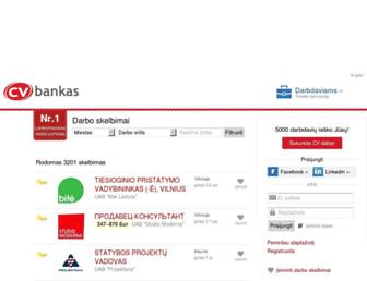 Main page screenshot of cvbankas.lt