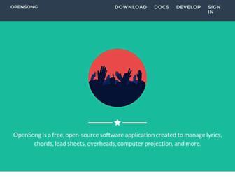 opensong.org screenshot