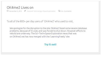 Main page screenshot of ok4me2.net