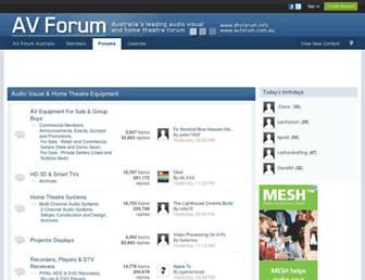 Main page screenshot of dtvforum.info