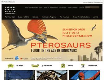 nhm.org screenshot