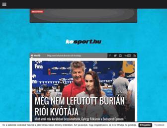 Main page screenshot of kesport.hu