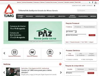 Main page screenshot of tjmg.jus.br