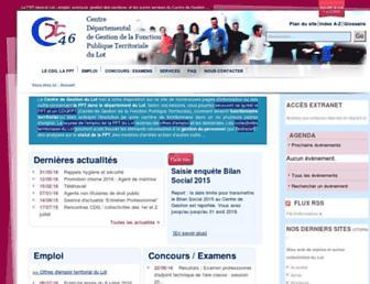 Main page screenshot of cdg46.fr