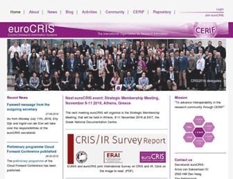 eurocris.org screenshot