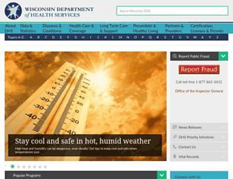 dhs.wisconsin.gov screenshot