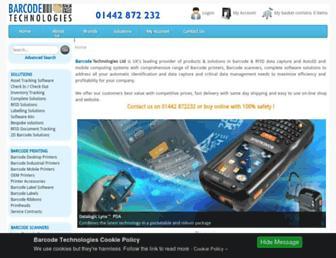 barcode-uk.com screenshot