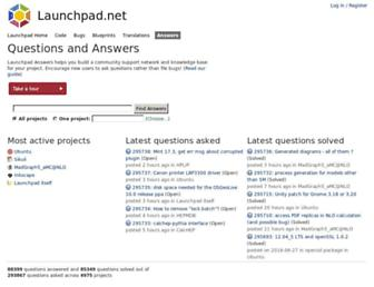 answers.launchpad.net screenshot