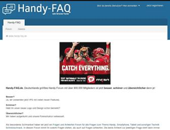 Main page screenshot of handy-faq.de