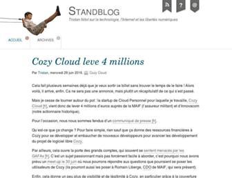 Main page screenshot of standblog.org