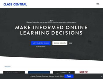 Thumbshot of Class-central.com