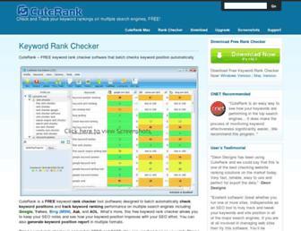 Main page screenshot of cuterank.net