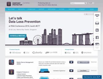 endpointprotector.com screenshot