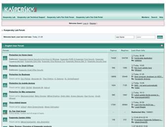 forum.kaspersky.com screenshot