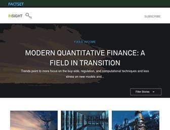 insight.factset.com screenshot