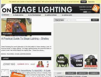 onstagelighting.co.uk screenshot